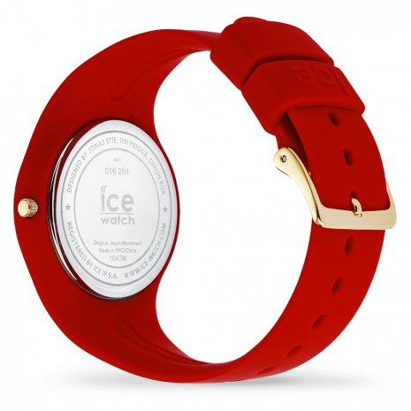Red & Gold Silicone Watch size Medium 秋冬款式 Ice-Watch